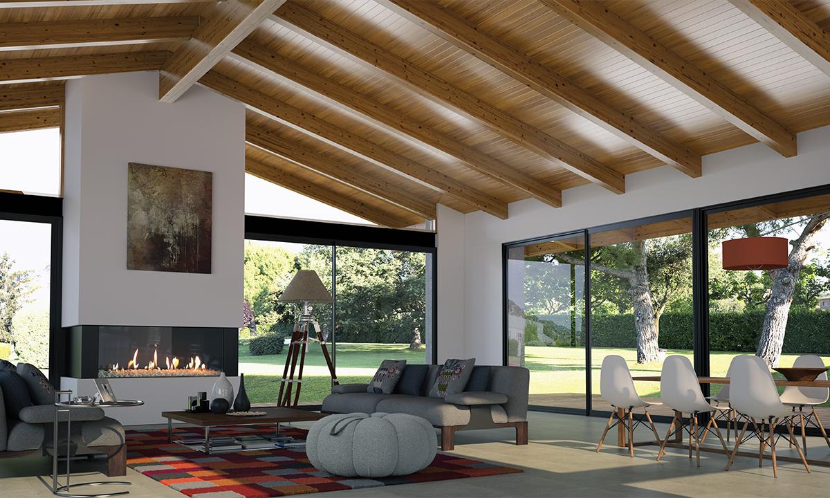 Iroko tirh thermochip by cupa group - Madera para techos interiores ...