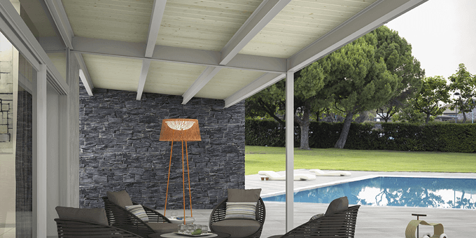 Thermochip by cupa group paneles s ndwich thermochip for Tipos de techos para porches